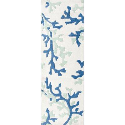 Parkmont Ivory & Blue Area Rug Rug Size: Runner 26 x 8