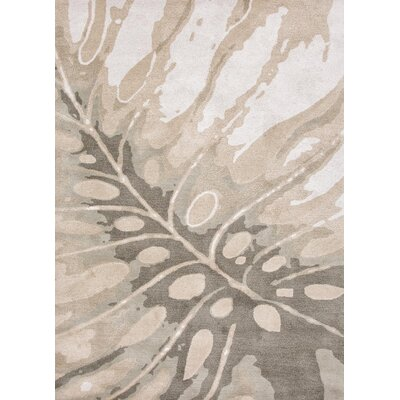 Farley Coastal Hand-Woven Wool Ivory/Gray Area Rug Rug Size: Rectangle 36 x 56