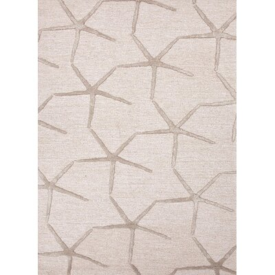 Farley Coastal Ivory/Taupe Area Rug Rug Size: Rectangle 36 x 56