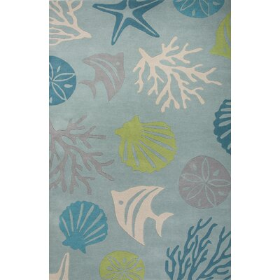 Nottingham Coastal Blue/Green Area Rug Rug Size: 5 x 8