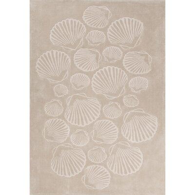 Margaret Hand-Tufted Natural/Ivory Area Rug Rug Size: 76 x 96