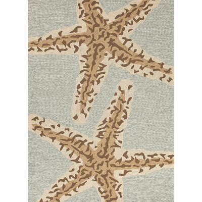 Osprey Hand-Hooked Blue Lake Indoor/Outdoor Area Rug Rug Size: Rectangle 9 x 12