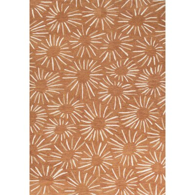 Melousia Hand-Tufted Orange/Ivory Area Rug Rug Size: 5 x 76