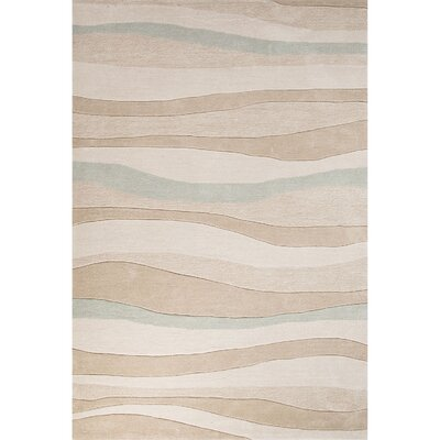 Boule Hand-Tufted Beige/Blue Area Rug Rug Size: 76 x 96