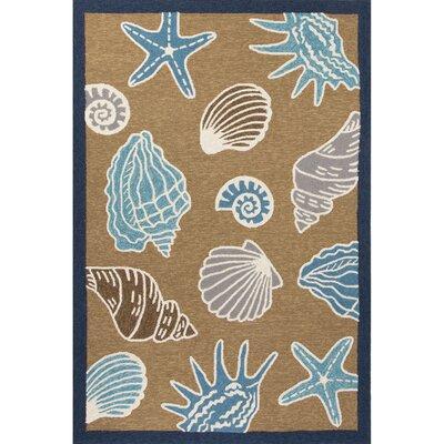 Esker Yellow/Blue Indoor/Outdoor Area Rug Rug Size: 76 x 96