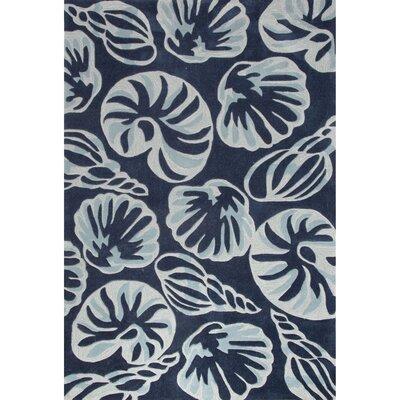 Princeton Hand-Tufted Blue/Ivory Area Rug Rug Size: 2 x 3