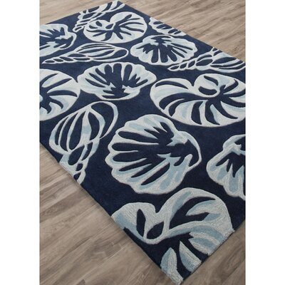 Princeton Hand-Tufted Blue/Ivory Area Rug Rug Size: Rectangle 76 x 96