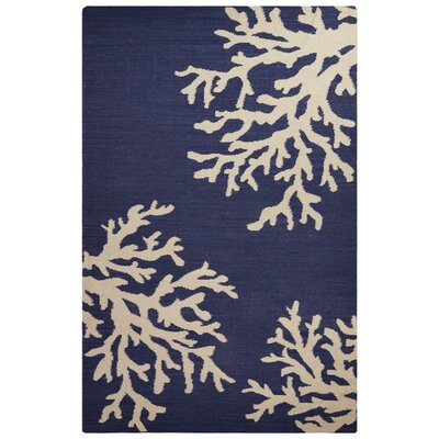 Laelia Blue/Ivory Area Rug Rug Size: Rectangle 5 x 8