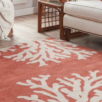 Granger Hand-Tufted Orange/Ivory Area Rug