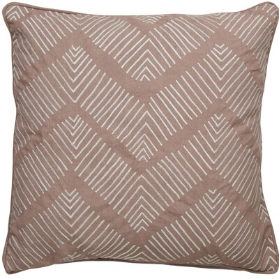 Faulkner Stitched Chevron Pattern Cotton Throw Pillow Color: Light Brown / Ivory