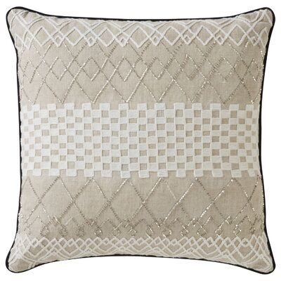 Bouleaux Tribal Pattern Linen Throw Pillow