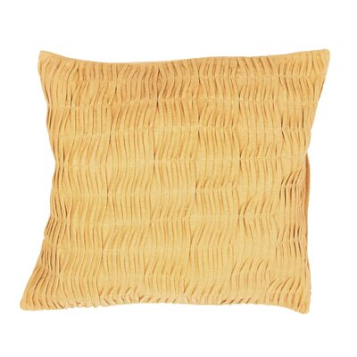 Elliott Ruched Poly Cotton Throw Pillow Color: Yellow / Gold