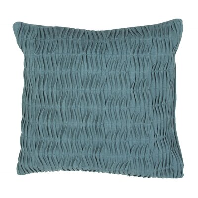 Boutin Ruched Cotton Throw Pillow Color: Blue