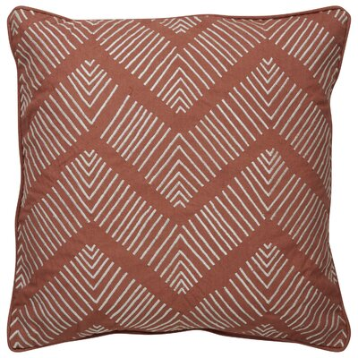 Faulkner Stitched Chevron Pattern Cotton Throw Pillow Color: Brown / Ivory