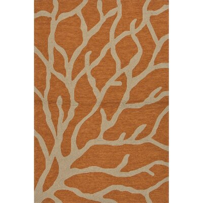 Esker Orange/Taupe Indoor/Outdoor Area Rug Rug Size: 36 x 56
