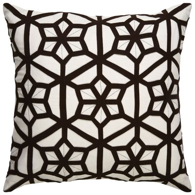 Bollard Geometric Pattern Throw Pillow Color: Ivory / Black