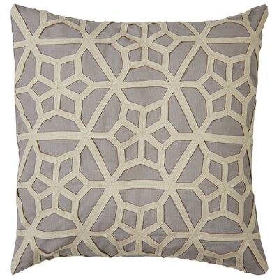 Bonham Geometric Pattern Polyester Throw Pillow Color: Grey / Taupe