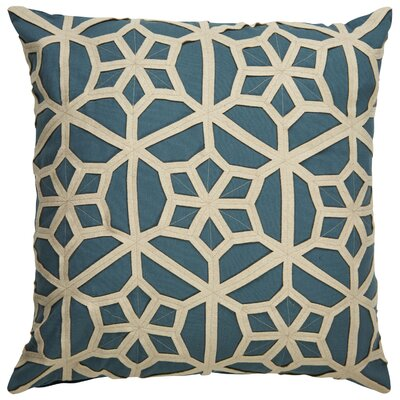 Bollard Geometric Pattern Throw Pillow Color: Blue / Taupe