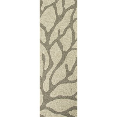 Esker Ivory/Grey Indoor/Outdoor Area Rug Rug Size: Runner 26 x 8