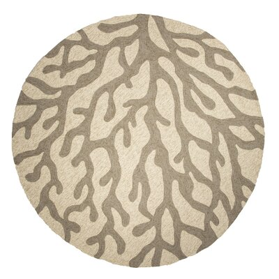 Ismene Ivory/Grey Indoor/Outdoor Area Rug Rug Size: 36 x 56