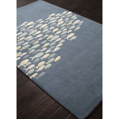 Nottingham Blue/Harbor Gray Indoor/Outdoor Area Rug Rug Size: Rectangle 36 x 56