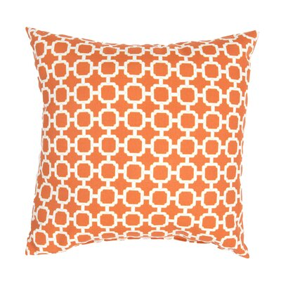 Pierpoint Geometric Indoor/Outdoor Throw Pillow Color: Orange