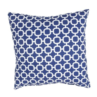 Pierpoint Geometric Indoor/Outdoor Throw Pillow Color: Blue