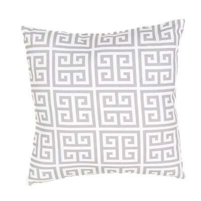 Pierpoint Greek Key Indoor Outdoor Throw Pillow Color: Ivory