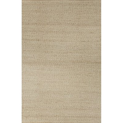 Ina Hand-Woven Beige Area Rug Rug Size: Rectangle 36 x 56