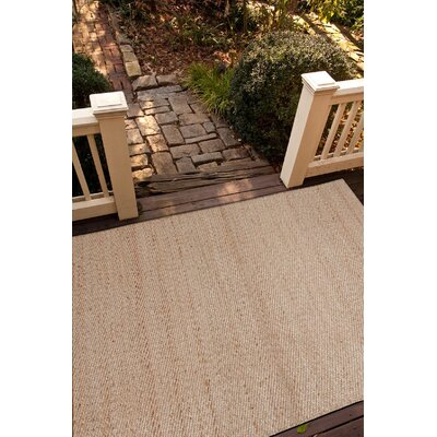 Ina Hand-Woven Beige Area Rug Rug Size: Rectangle 5 x 8