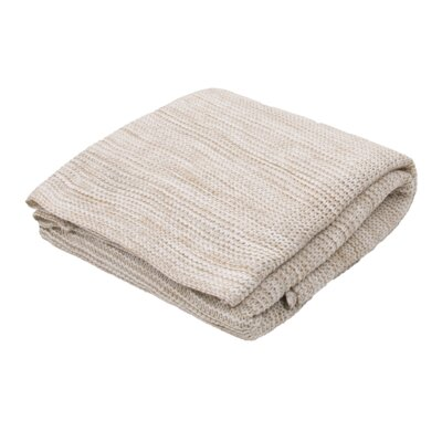 Fortin Handloom Transitional Throw Blanket Color: Taupe / Ivory