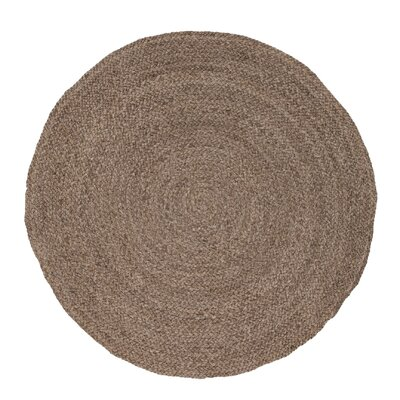 Everson Jute Tuffet Naturals Area Rug Rug Size: Round 6