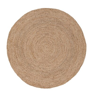 Everson Jute Almond Buff Naturals Area Rug Rug Size: Round 6