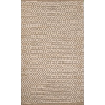 Ina Jute and Rayon Tan Naturals Area Rug Rug Size: 36 x 56