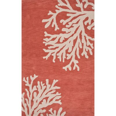 Granger Wool Hand Tufted Orange & Ivory Area Rug Rug Size: 36 x 56