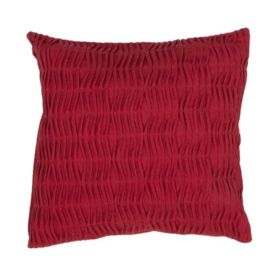 Elliott Solid Cotton Throw Pillow Color: Red
