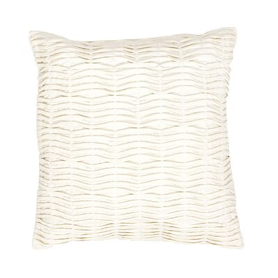 Boutin Solid Cotton Throw Pillow Color: Ivory/White