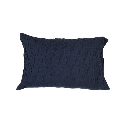 Boutin Solid Cotton Lumbar Pillow Color: Blue