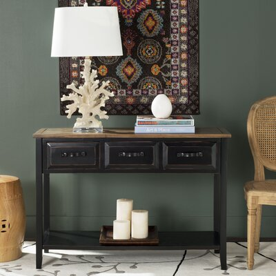 Crystal River Console Table Finish: Black Oak