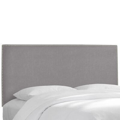 Coral Gables Upholstered Panel Headboard Size: King, Upholstery: Velvet Light Grey