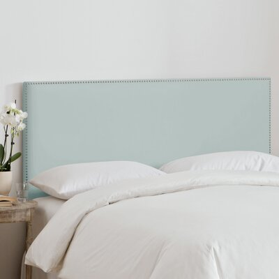 Burhardt Upholstered Panel Headboard Size: King, Upholstery: Pool