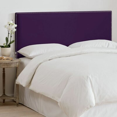 Coral Gables Upholstered Panel Headboard Size: Full, Upholstery: Aubergine