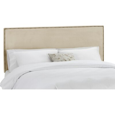 Coral Gables Upholstered Panel Headboard Upholstery: Buckwheat, Size: Queen