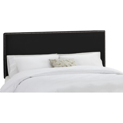Coral Gables Upholstered Panel Headboard Upholstery: Black, Size: Full