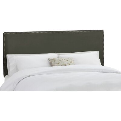 Coral Gables Upholstered Panel Headboard Upholstery: Pewter, Size: Queen