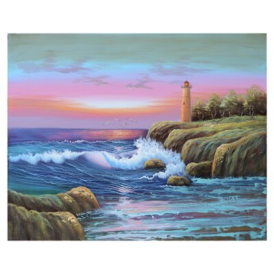 'Light House 1' Painting Print on Canvas ROHE3643 40834148