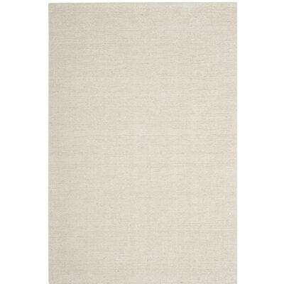 McArthur Hand-Knotted Beige Wool Area Rug Rug Size: Rectangle 4 x 6