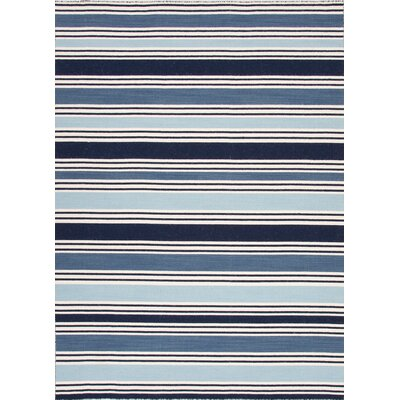 MacAdam Hand-Woven Blue Area Rug Rug Size: Rectangle 5 x 8