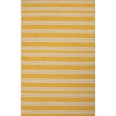 Everalda�Mango/White Stripe Area Rug Rug Size: Rectangle 8 x 10
