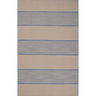 Everalda�Wool Flat Weave Blue & Ivory Area Rug Rug Size: Rectangle 5 x 8
